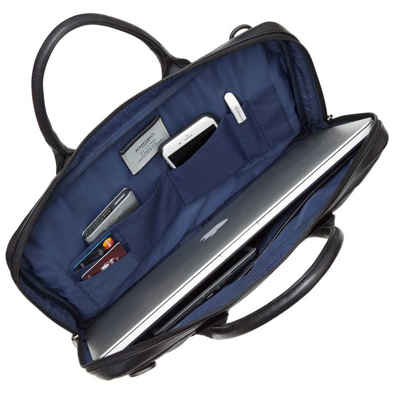 Knomo - Barbican Foster 14 inch Laptoptas Black 04