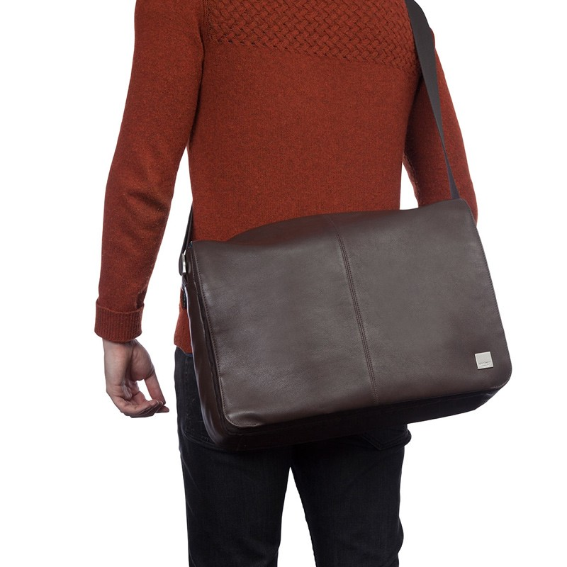 Knomo - Bungo 15,6 inch Laptop Messenger Brown 08