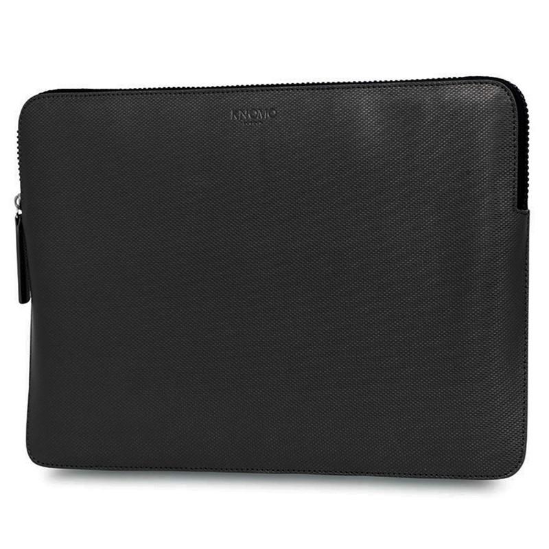 Knomo - Embossed Laptop Sleeve 12 inch Black 02