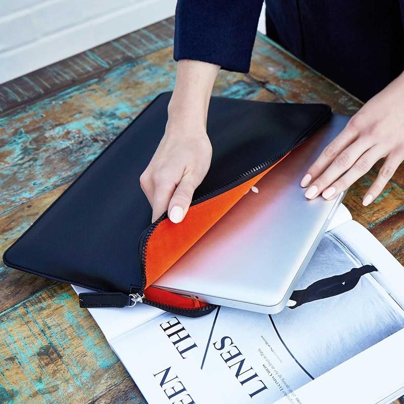 Knomo - Embossed Laptop Sleeve 12 inch Black 06