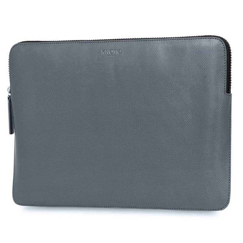 Knomo - Embossed Laptop Sleeve 12 inch Silver 02