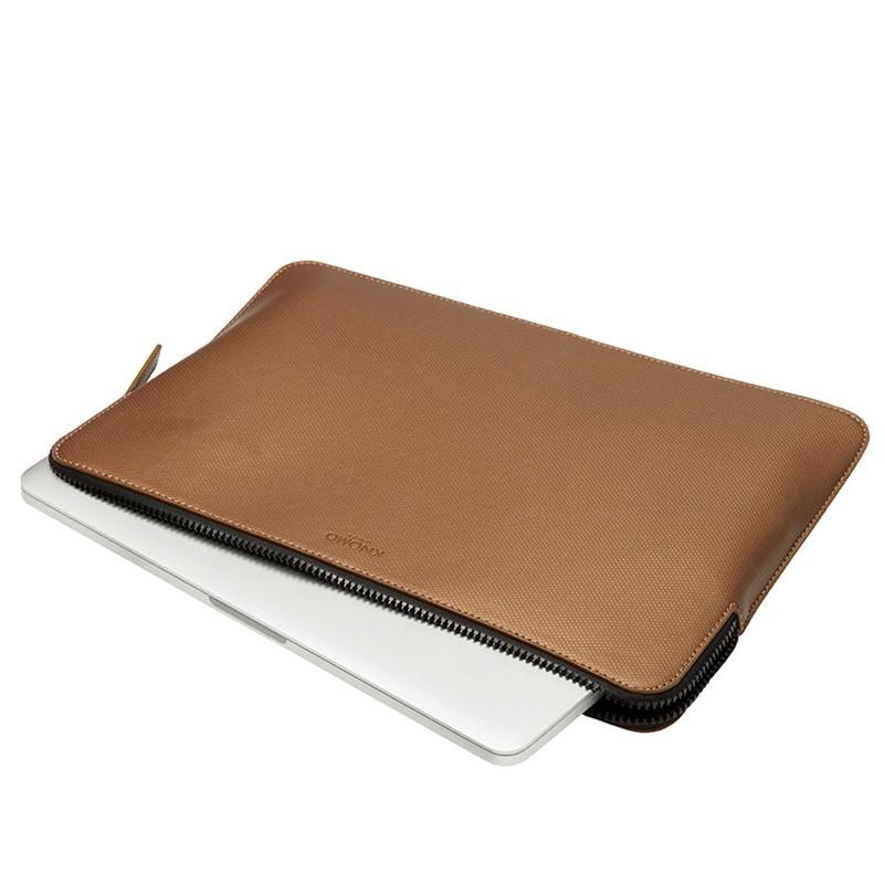 Knomo - Embossed Laptop Sleeve 13 inch Bronze 05