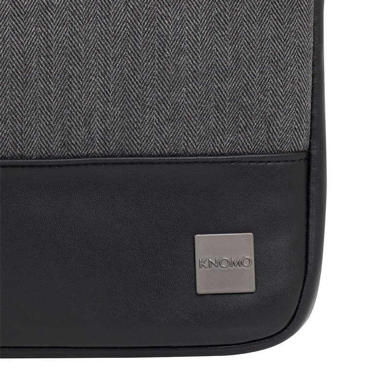 Knomo - Holborn 14 inch Herringbone Sleeve Charcoal 08
