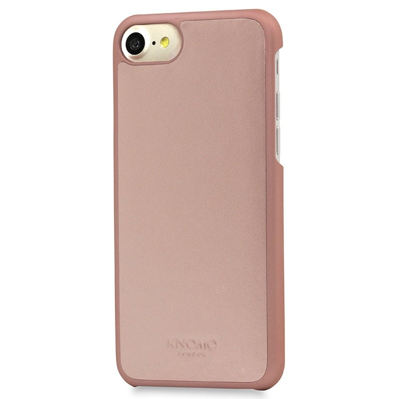 Knomo - Leather Snap On Hoes iPhone 7 Silver Rose Gold 01
