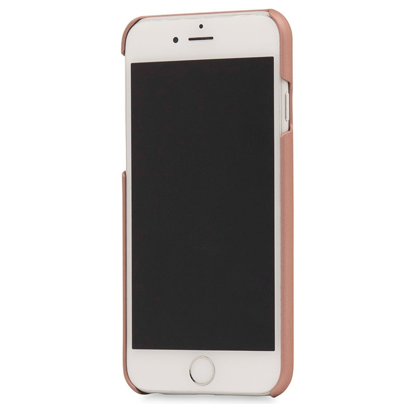 Knomo - Leather Snap On Hoes iPhone 7 Silver Rose Gold 03