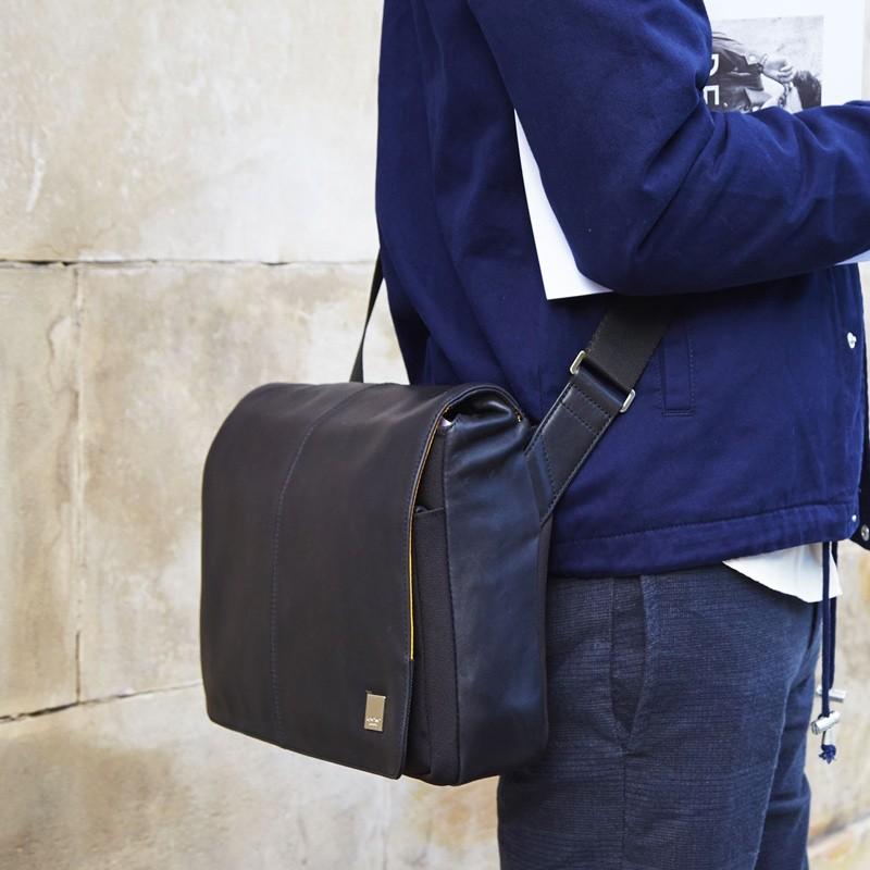 Knomo - Kinsale 13 inch Laptop Messenger Black 08