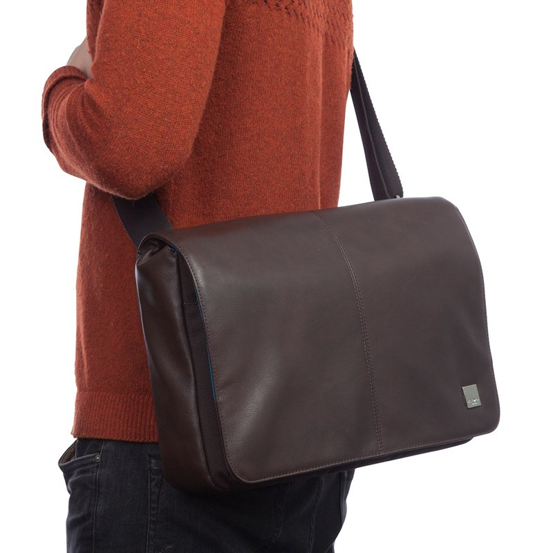 Knomo - Kinsale 13 inch Laptop Messenger Brown 06