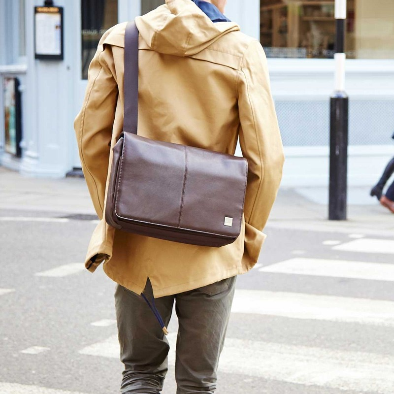 Knomo - Kinsale 13 inch Laptop Messenger Brown 07