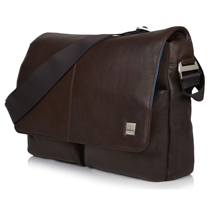 Knomo - Kobe 15 inch Laptop Messenger Brown 01