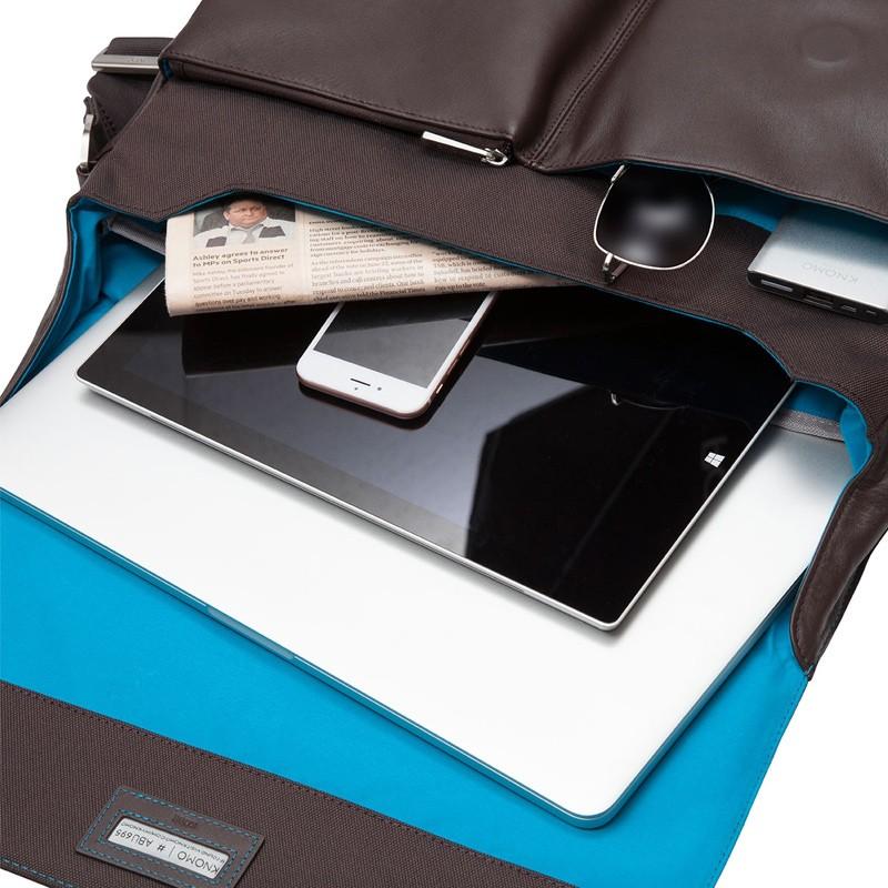 Knomo - Kobe 15 inch Laptop Messenger Brown 07