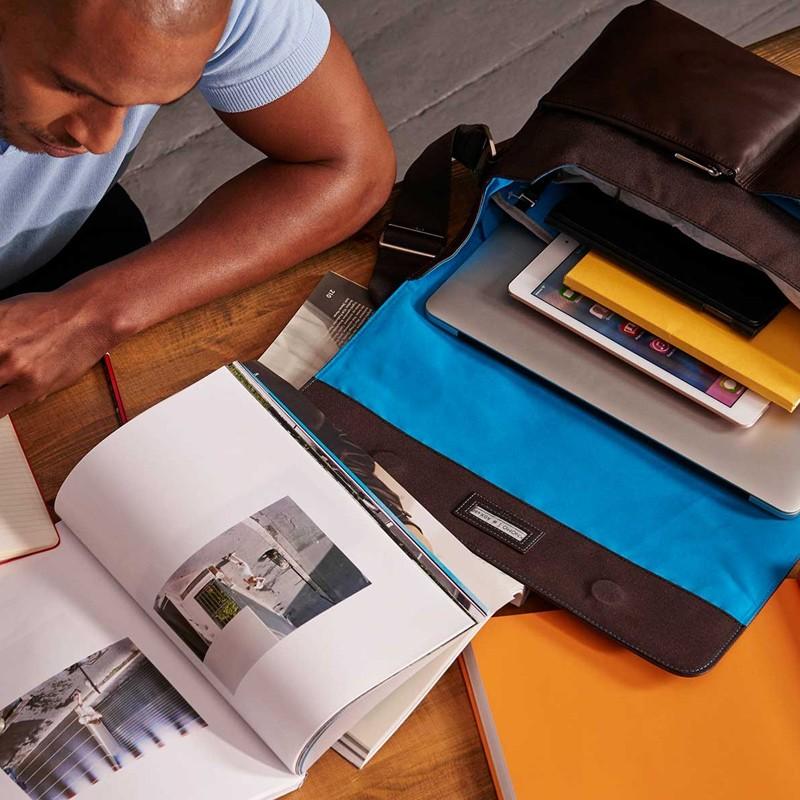 Knomo - Kobe 15 inch Laptop Messenger Brown 10