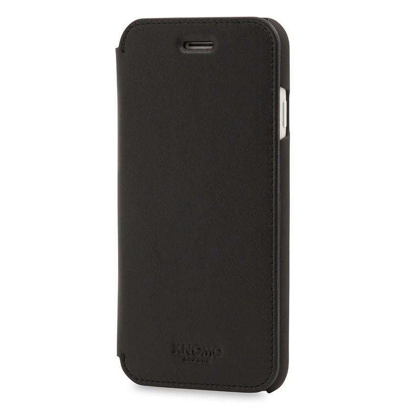 Knomo Leather Folio iPhone 7 Black 02