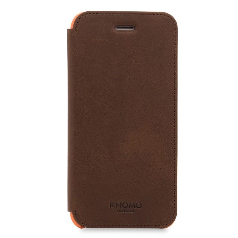 Knomo Leather Folio iPhone 7 Brown 01