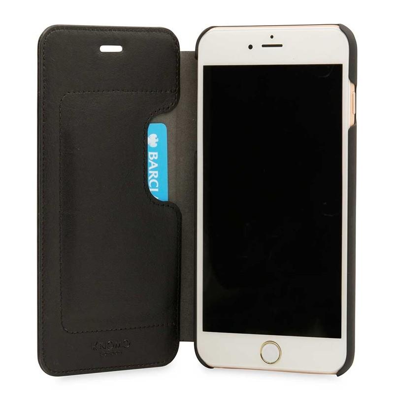 Knomo Leather Folio iPhone 7 Plus Black 04