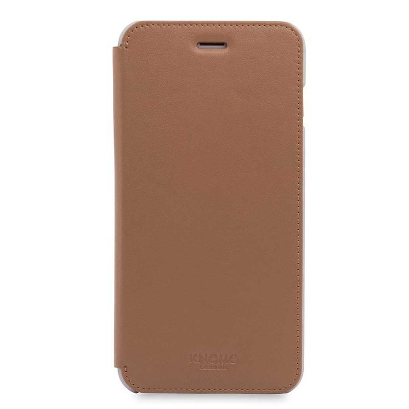 Knomo Leather Folio iPhone 7 Plus Caramel 01