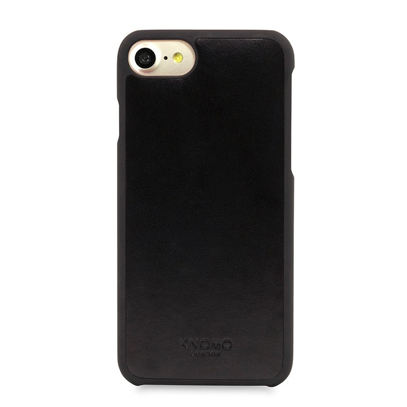 Knomo Leather Snap On Hoes iPhone 7 Black 02