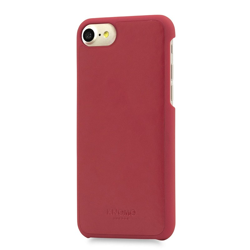 Knomo Leather Snap On Hoes iPhone 7 Chili 01