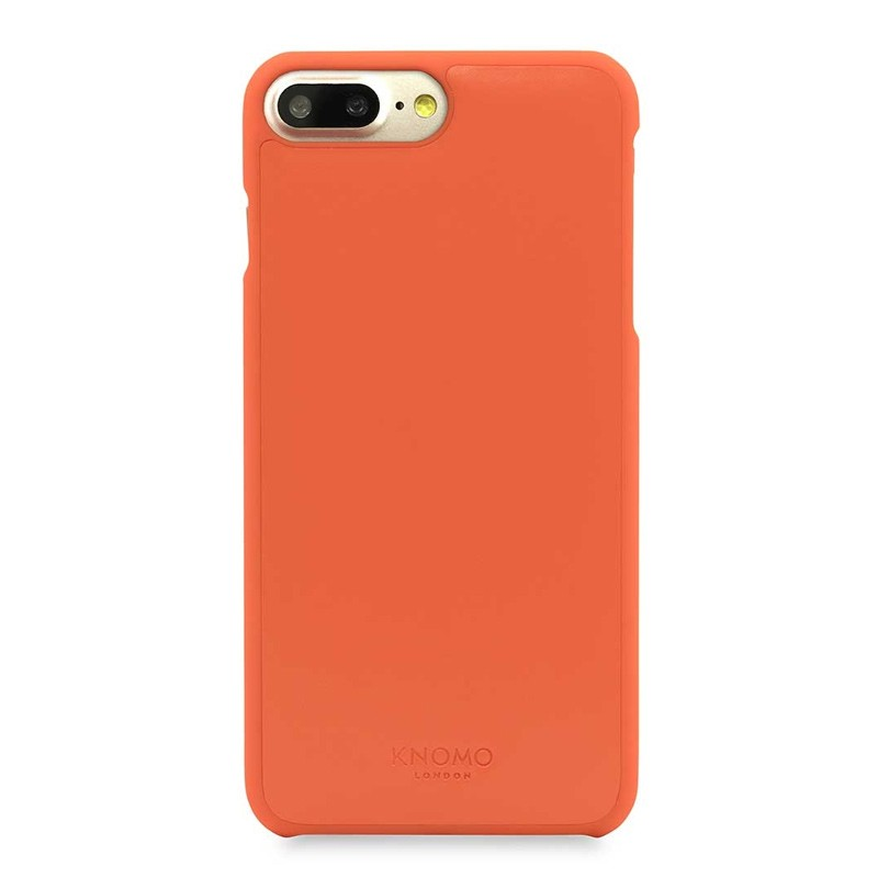 Knomo Leather Snap On Hoes iPhone 7 Plus Orange 02