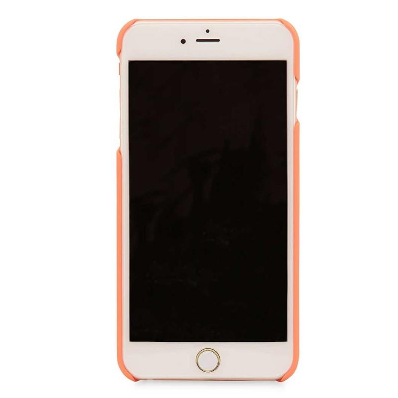 Knomo Leather Snap On Hoes iPhone 7 Plus Orange 03