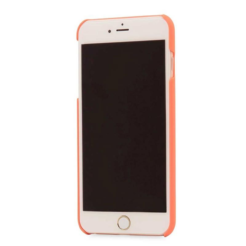Knomo Leather Snap On Hoes iPhone 7 Plus Orange 04