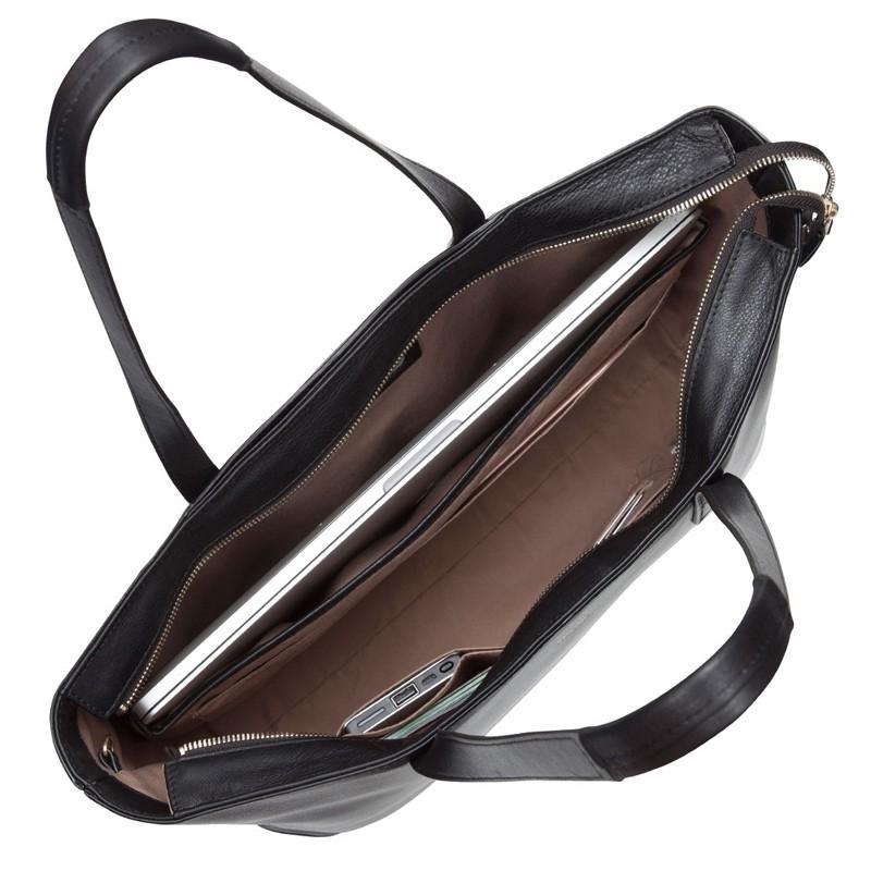 Knomo - Maddox 15 inch Zip Top Laptoptas Black 04