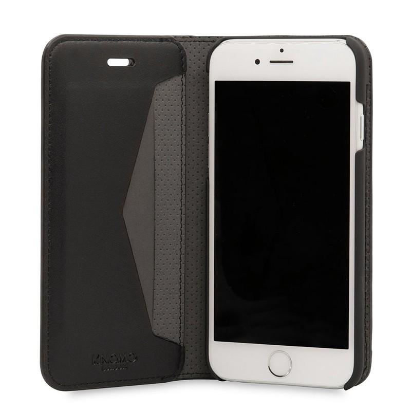 Knomo Premium Leather Folio iPhone 7 Black 04