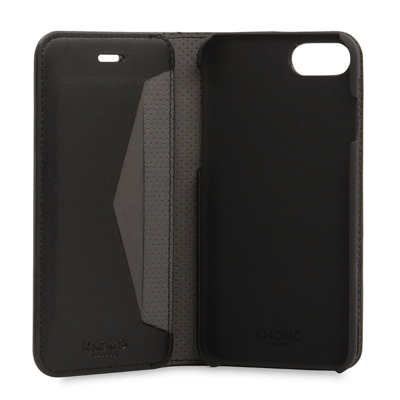 Knomo Premium Leather Folio iPhone 7 Black 05