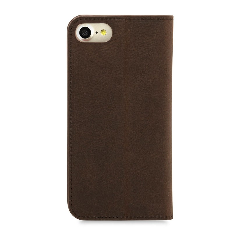 Knomo Premium Leather Folio iPhone 7 Brown 02