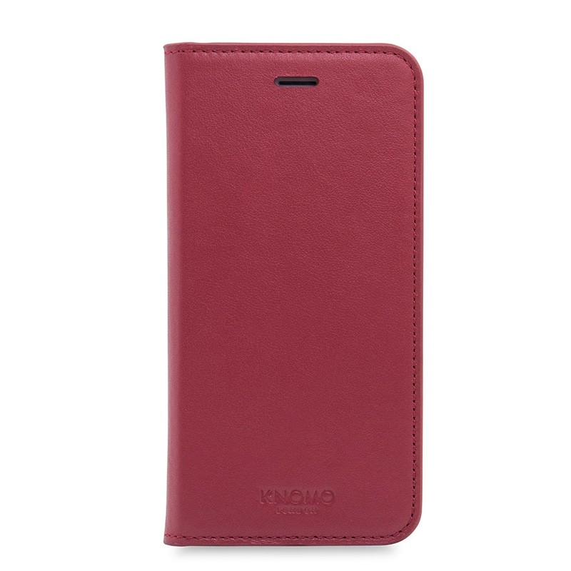 Knomo Premium Leather Folio iPhone 7 Chili 01