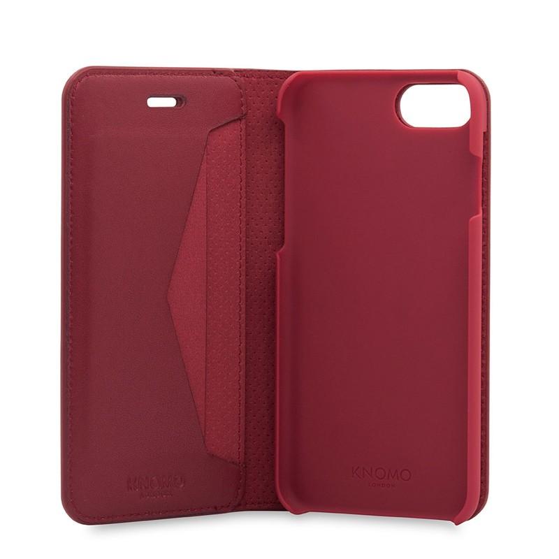 Knomo Premium Leather Folio iPhone 7 Chili 04