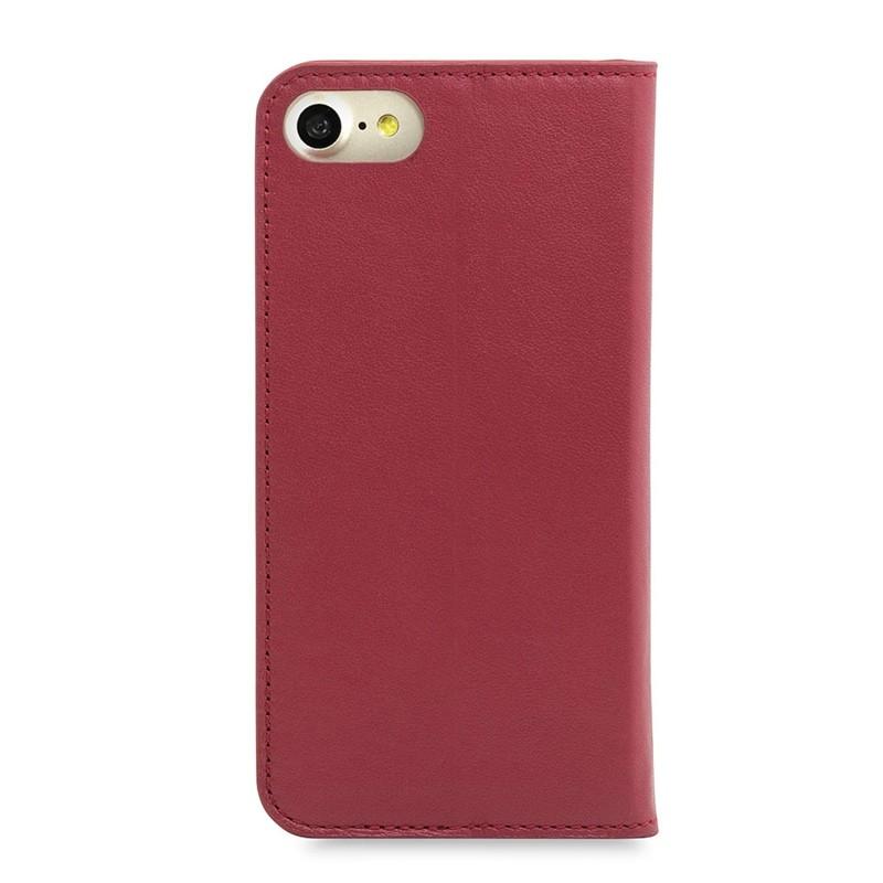 Knomo Premium Leather Folio iPhone 7 Chili 02