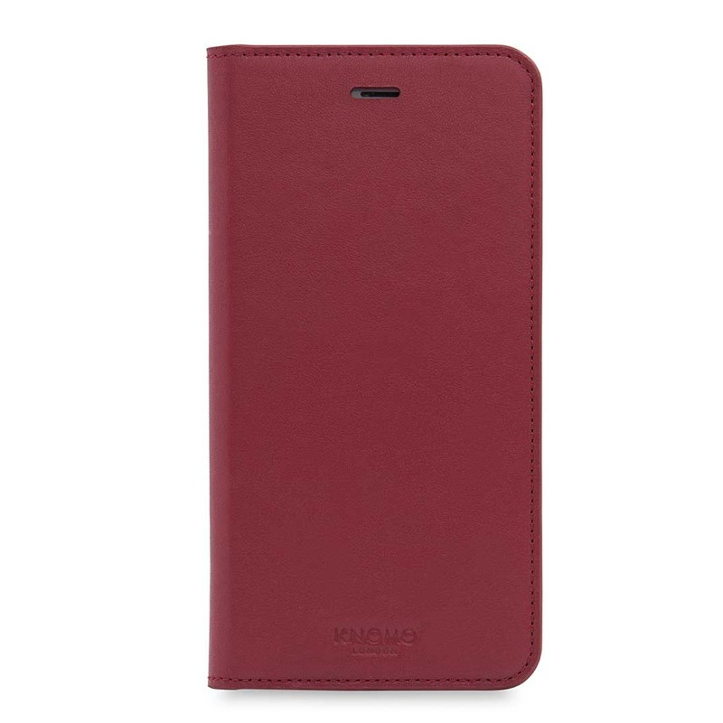 Knomo Premium Leather Folio iPhone 7 Plus Chili 01