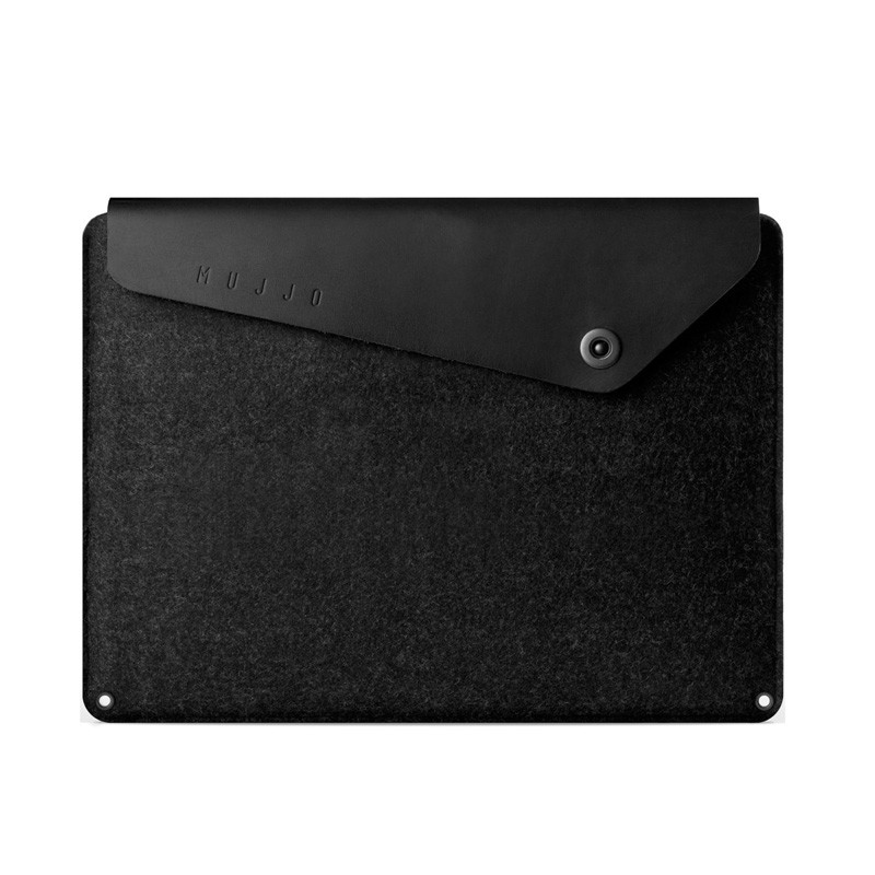 Mujjo Leather Sleeve Macbook 12 inch black - 1