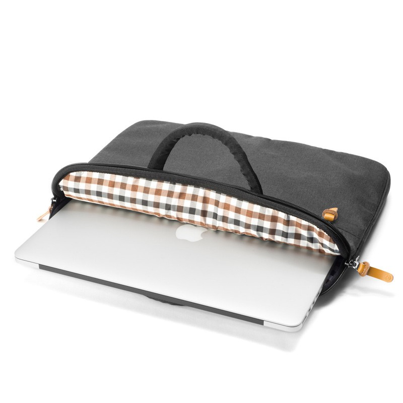 Booq - Superslim 15 inch Laptoptas Black Tan 03