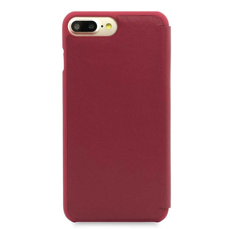 Knomo Leather Folio iPhone 7 Plus Chili 03