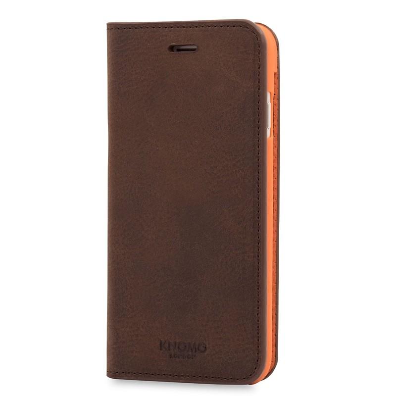 Knomo Premium Leather Folio iPhone 7 Brown 03