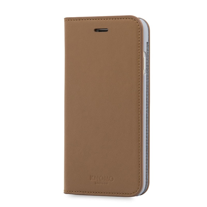 Knomo Premium Leather Folio iPhone 7 Caramel 03