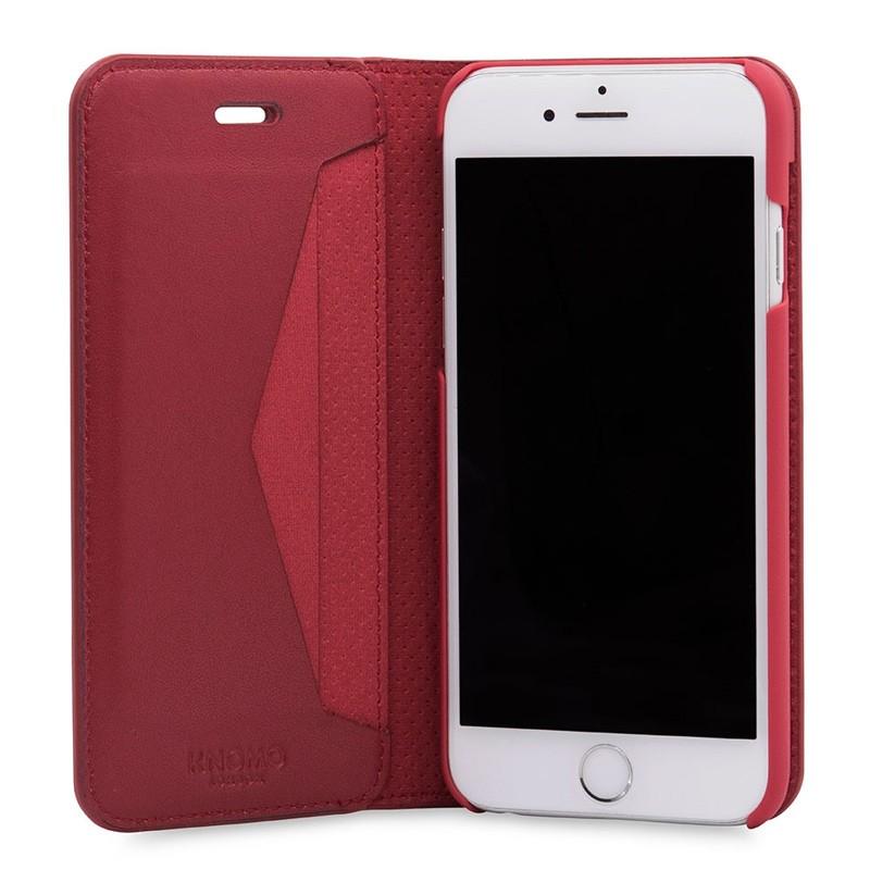 Knomo Premium Leather Folio iPhone 7 Chili 03