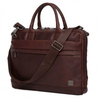 Knomo - Barbican Foster 14 inch Laptoptas Brown 01