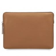 Knomo - Embossed Laptop Sleeve 12 inch Bronze 01