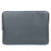 Knomo - Embossed Laptop Sleeve 13 inch Silver 01