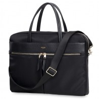 Knomo - Hanover 14 inch Slim Laptop Briefcase Black 01