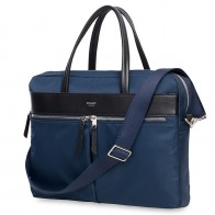 Knomo - Hanover 14 inch Slim Laptop Briefcase Navy Blue 01