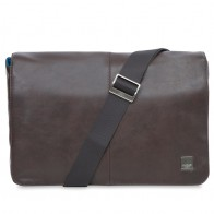 Knomo - Kinsale 13 inch Laptop Messenger Brown 01