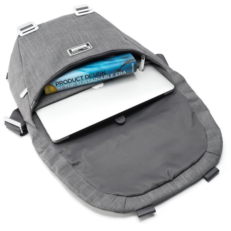Booq - Shadow 15 inch Laptop Messenger Grey Fiber 07