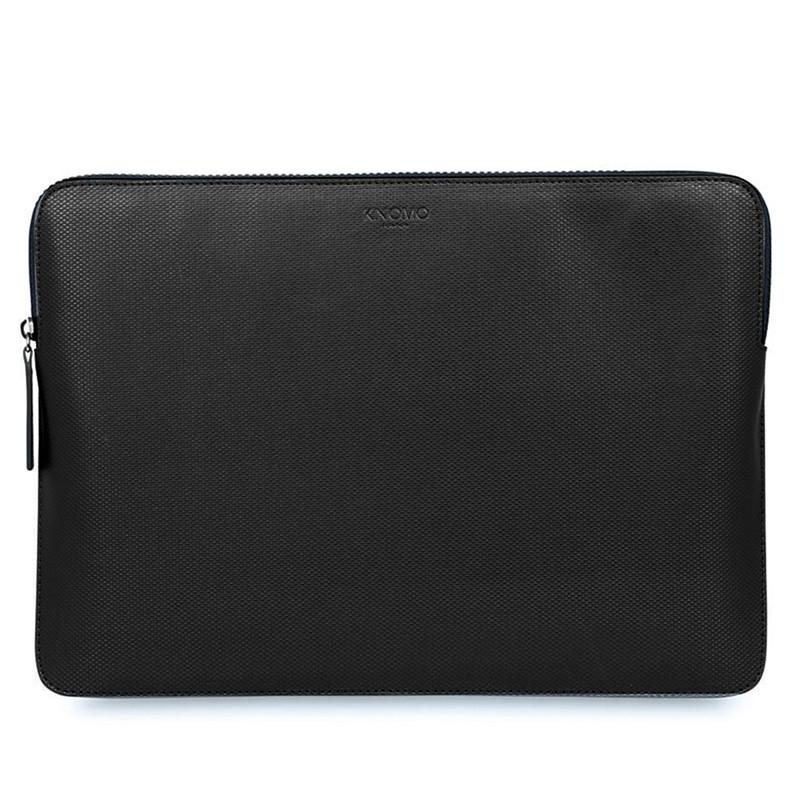 Knomo - Embossed Laptop Sleeve 12 inch Black 01