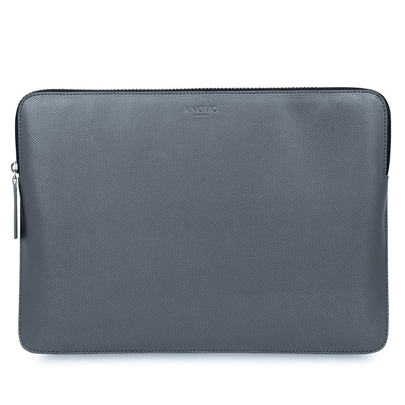 Knomo - Embossed Laptop Sleeve 12 inch Silver 01