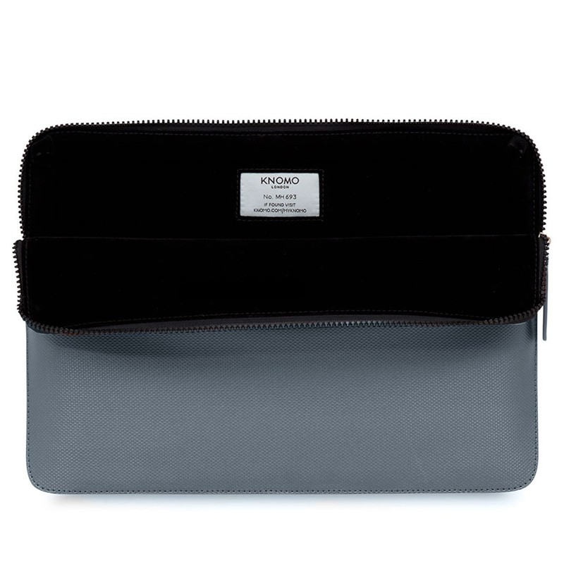 Knomo - Embossed Laptop Sleeve 12 inch Silver 04