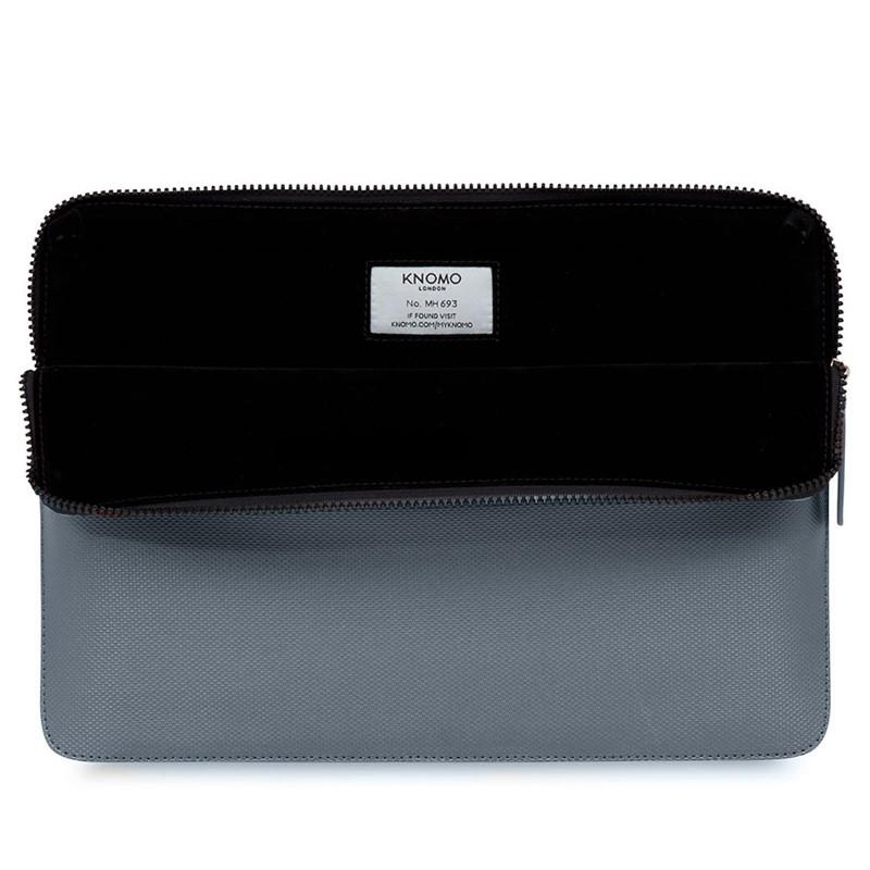 Knomo - Embossed Laptop Sleeve 13 inch Silver 03