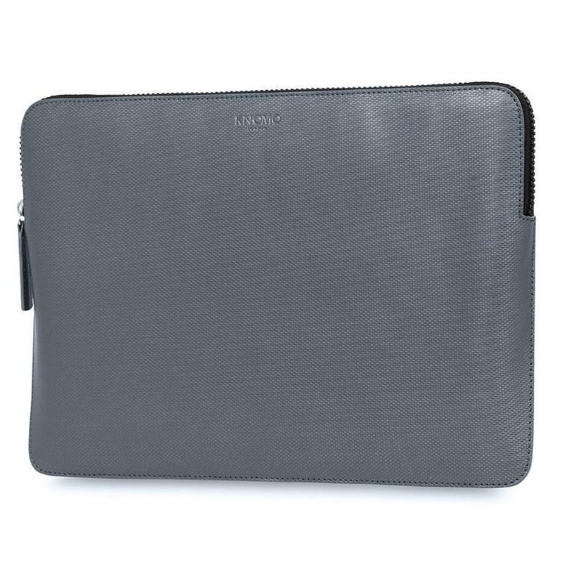 Knomo - Embossed Laptop Sleeve 13 inch Silver 02